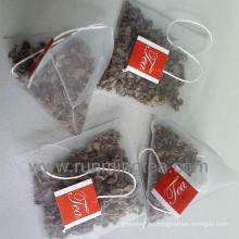 Bolso de té verde orgánico bolsas de té de la pirámide