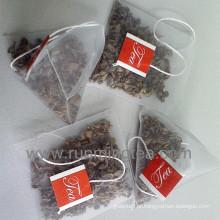 Sacos de chá orgânicos da sacola de chá da pirâmide