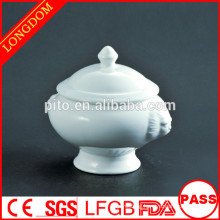 2014 hot sale hotel restaurant Chinese porcelain soup bowl with lid