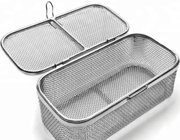 SS304 stainless steel mesh rectangular round basket 6