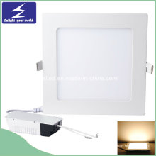 18W 85-265V Ultra-Delgado Cuadrado Panel LED Downlight empotrado