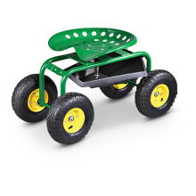Chariot de jardin, chariot à outils avec quatre roues