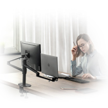 Wholesale Dual Arm Desktop Mount Extendable Laptop And Monitor Arm Bracket For Monitor