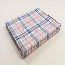 Grid printed micro plush fleece blanket trip throw