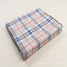100 polyester check printed design polar fleece blanket