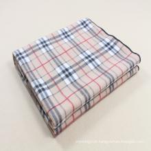 100 poliéster cheque impresso design cobertor de lã polar