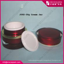 Red Beauty Acrylic Cream Cosmetic Jar 10ml