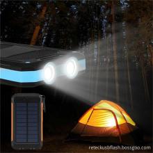 2 LED 빛 휴대용 태양 광 발전 은행