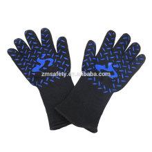 Gants de barbecue de support de pot isolés à hautes températures de catégorie comestible, chauffent des gants protecteurs de BBQ de cuisson avec le certificat EN407