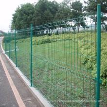 PVC revestido jardín soldado alambre malla cerca