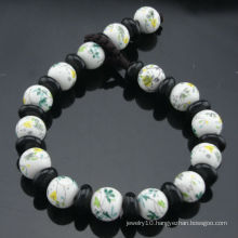 2013 Hot Selling Hand Painted 8mm Porcelain Beads Flower Bracelet SB-0222