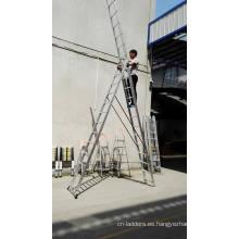 Escalera de cuerda Escalera de extensión Escalera de tijera multiusos de aluminio