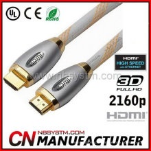Nouveau câble premium 1M 3M 5M haute vitesse HDMI 1.4 pour projecteur HDTV LEDTV 1080P
