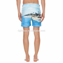Pantalones cortos de la playa de la venta caliente 2018 hombres pantalones cortos de playa imprimir pantalones cortos de boxeo pantalones cortos de natación