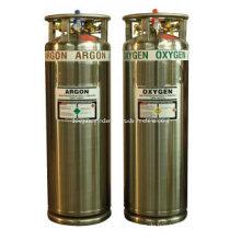 Hochdruck-Argon und Sauerstoffzylinder