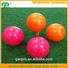 High quality brightly colored park golf balls