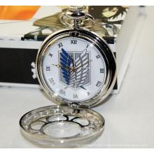 Fashion Design Quartz Movement Pocket Gift Sliver Watch