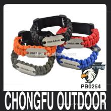 metal dog tag for paracord bracelet