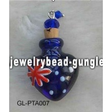 Australia flag shape lampwork perfume bottle