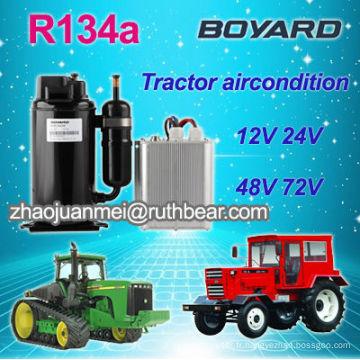 Appareil de climatisation de la cabine du tracteur basse tension avec compresseur rotatif r134a