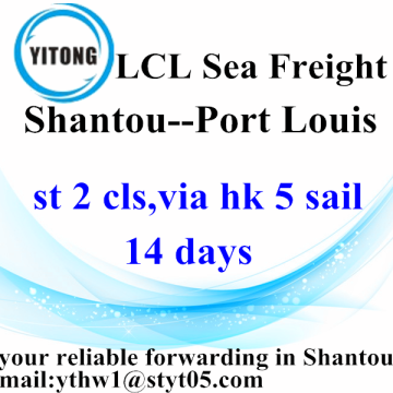 LCL Logistic Services von Shantou nach Port Louis