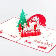 papier de décoration fait main 3d carte de voeux joyeux de noël