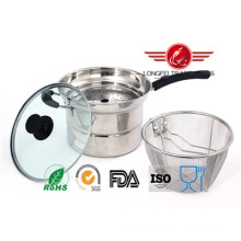 Multi-Fonction Stainless Steel Saucepan