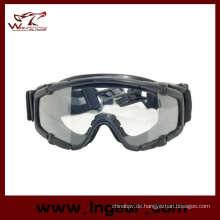 Tacitcal Schutzbrille Airsoft Brille PC Brille Ballistik Brille Schwarz