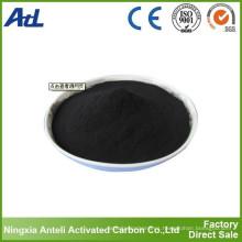 Carbón activado negro de grado alimenticio con gran superficie