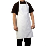 100% cotton white long work apron for doctors