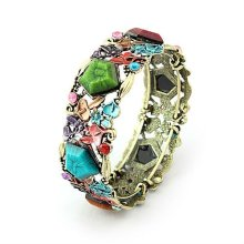 Fashion Vintage Colorful Resin Bangles Bracelets And Bangles BA11
