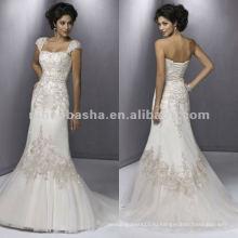 НН-164 мягкий милая декольте Плиссированные bodice атласная тюль свадебное платье/свадебное платье