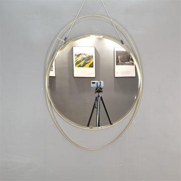 moldura de ouro espelho de metal MDF espelho espelho do quarto