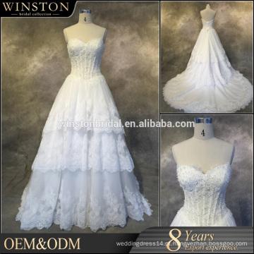 2016 New Fashion Real Photo vestidos de noiva sem mangas