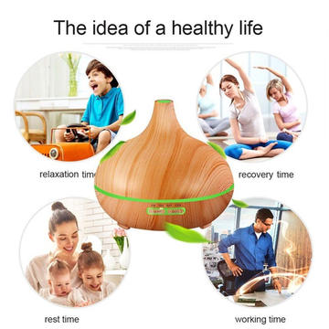 400ml Ultrasonic Wood Ionizer Humidifier