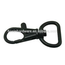 Moda de alta qualidade metal preto giratório gatilho clasp