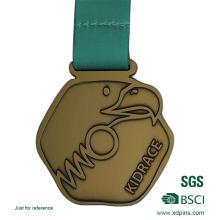 Medallas de oro antiguas de metal personalizado para recuerdo