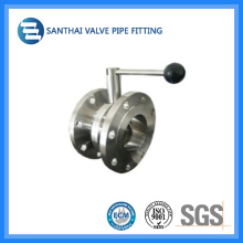 Hot Sale Stainless Steel Material Sanitary Flange Butterfly Valve