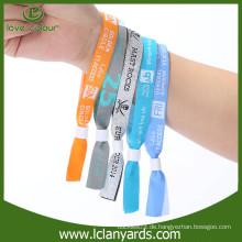 Einweg-Festival-Veranstaltungen billig benutzerdefinierte Stoff Wristband