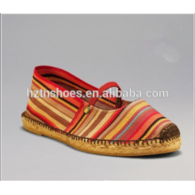 2016 New Style Colorful Striped Espadrilles Wholesale Flat Shoes