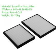 Núcleo do filtro de ar da fibra de vidro HEPA da substituição do mícron
