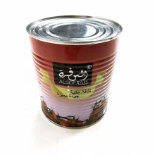 canned tomato paste in 850g with high quality