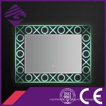 2016 último espejo cristalino del maquillaje de la base del rectángulo con la pantalla táctil