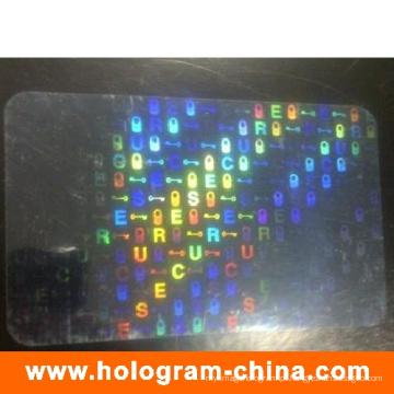 Holograma de sobreposição de cartão de identificação a laser anti-falsificação