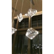 Lámpara colgante de lujo moderna personalizada decorativa del vestíbulo del hotel