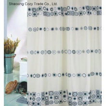 Circle Design Fabric Polyester Shower Curtain