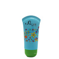 Free sample oval shape cute clear baby lotion tube