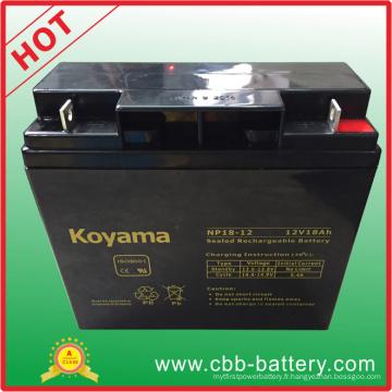 Batterie au plomb AGM de 12V 18ah pour véhicule utilitaire