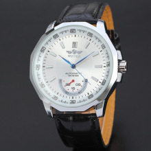 winner brand elegant men watch with date design