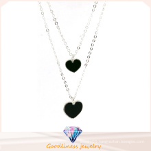 Good Quality & Heart-Shaped Pendant Jewelry 925 Silver Necklace (N6766)